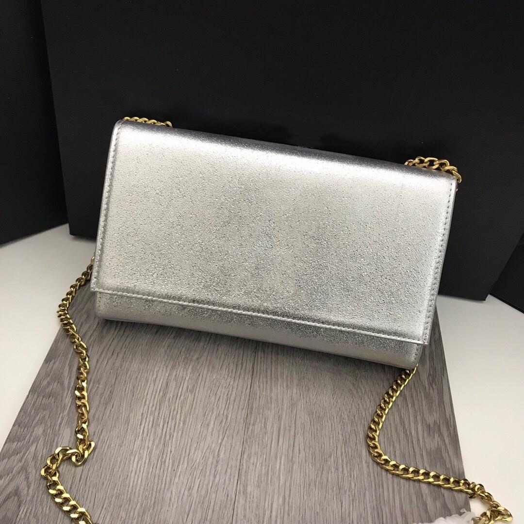 Nuevo diseñador de moda mujer bolso bolso bolsa de cuero genuino bolsa de hombro cadena bolsa de cruz moneda moneda embrague pequeño bolsas bolsas bolsos 24 cm
