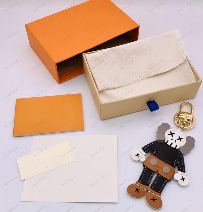 LEON animales llavero hombre mujer bolso de lujo diseñador llaveros llaveros letra de cuero llavero llavero coche acceso accesorios con caja