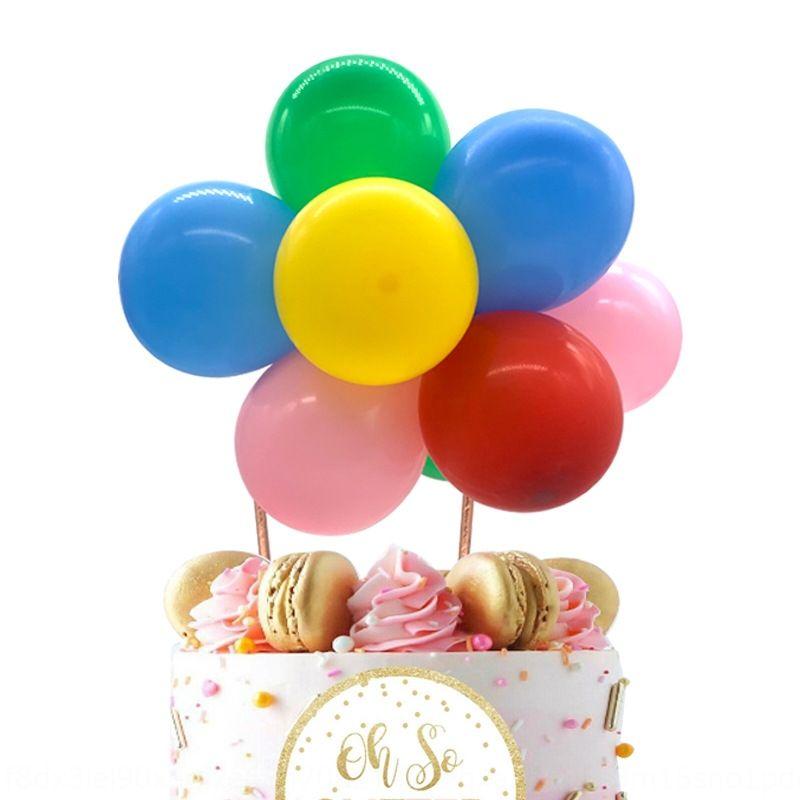 Чистый красного облако торт воздушного шара латекса торт плагин 5-дюймового флаг воздушного шара латекса партии десертного стола выпечка украшение wVTKu