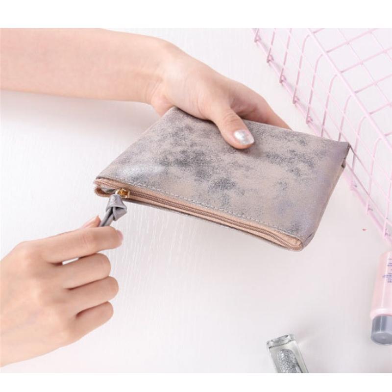 Sacs pour les femmes Pu carré en cuir Porte-Monnaie Kawaii Mini Change Wallet Petit sac enfants Zipper Sac cadeau vente chaude