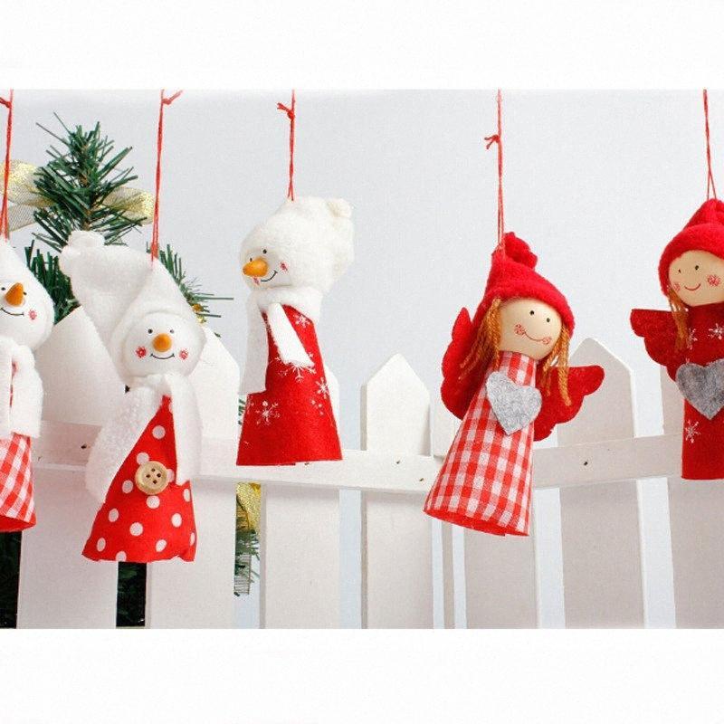 Ángel de la Navidad Ornamento de Navidad Decoración colgante colgante de la muñeca de la Navidad para el hogar 2018 regalos de Navidad para niños Como Cbm9 #