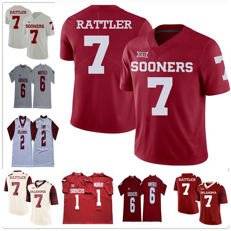 Спенсер Раттлер Джален болит 6 Baker Mayfield Pureine Bradford Ceenee Lamb Oklahoma рано, что футбольные изделия из колледжа NCAA