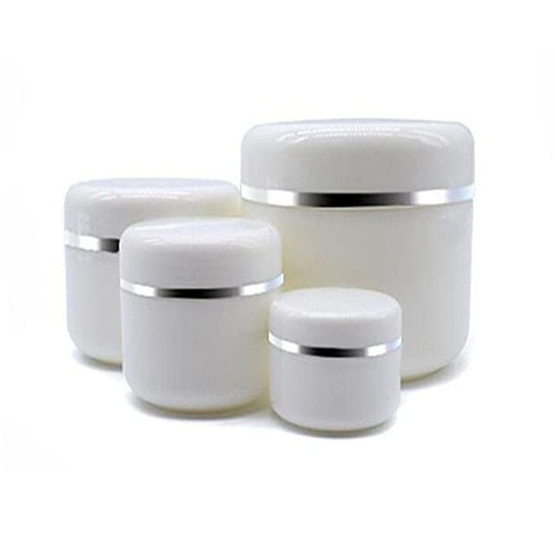 Branco Portátil Recarregável Cosmética Plástico Frascos Viagem Rosto Creme Loção Recipiente Cosmético Plástico Vazio Composição Frasco