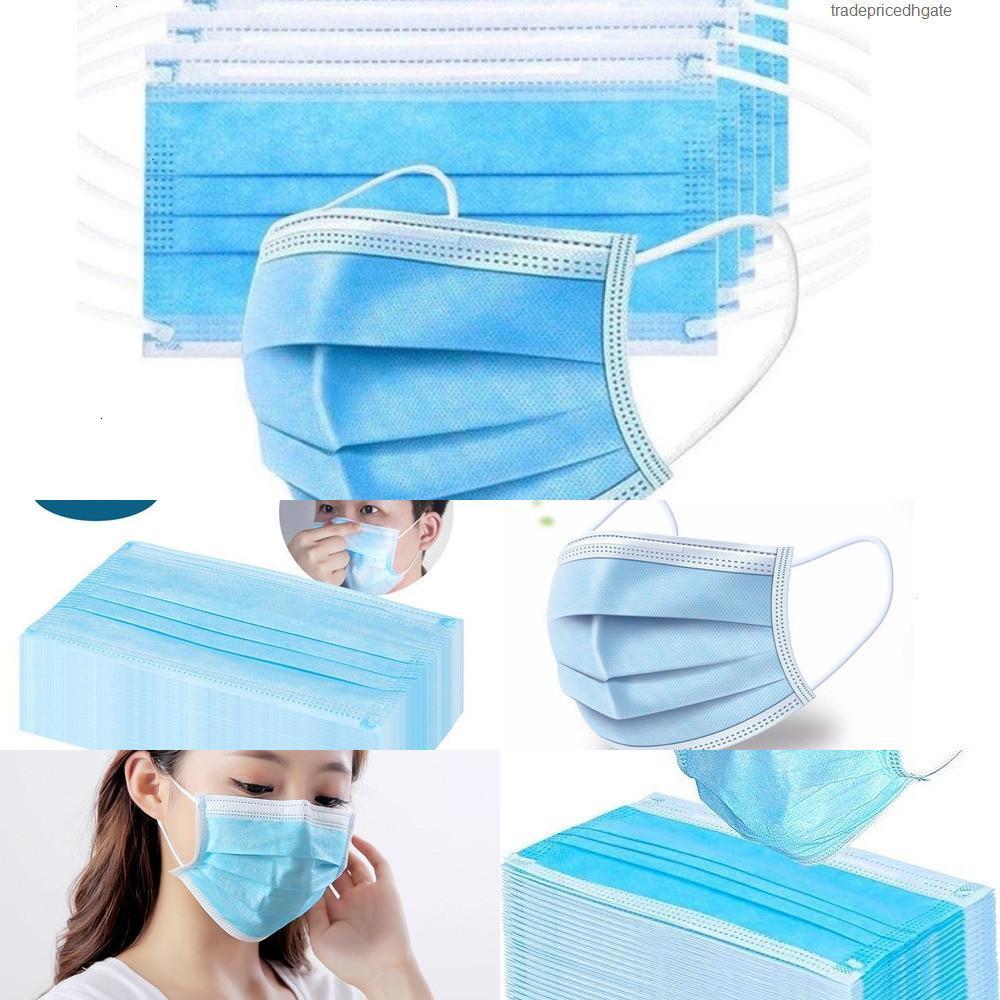 4 capas 95% 50 piezas de niebla Filtrado Polvo adulto Dormir Máscara de seguridad Cara de algodón cara máscaras