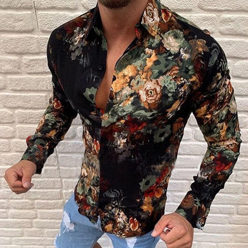 2021 новый Henry Hip Hop Tehour County Brick Flash Flash Рубашка с длинным рукавом Человек 3UXG