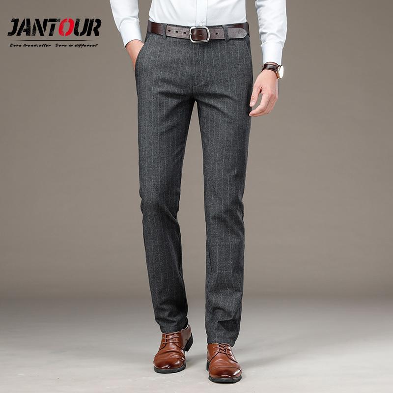29-40 vestito di pantaloni per gli uomini d'affari Stretch Mens Suit Pants diritti classici banda pantaloni Abito da sposa maschio pantaloni di Office 1116