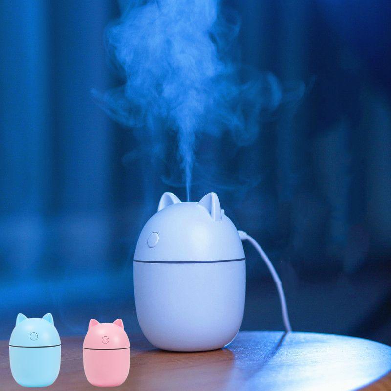 220ml Humidificatore d'aria AROMA AROMA AROMA DIFFUSORE OLIO ESSENZIALE Plug USB con lampada notturna a LED Mini per la casa Spa Auto Mist Spray Aromaterapia