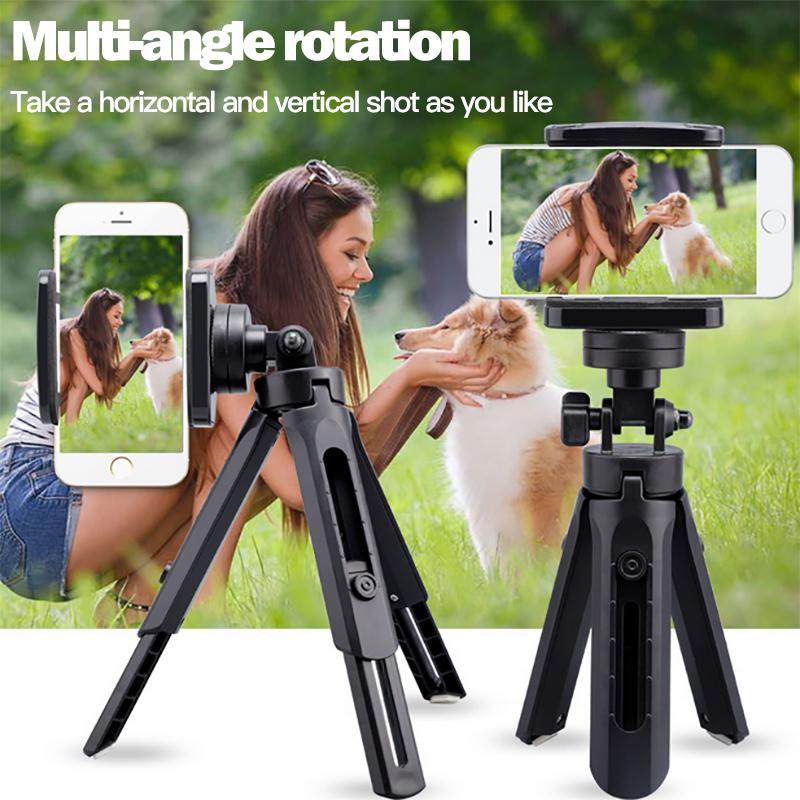 Mini Autoscatto retrattile conveniente Treppiede pieghevole desktop fotocamera porta cellulare universale basamento della staffa di viaggio per Mobile P