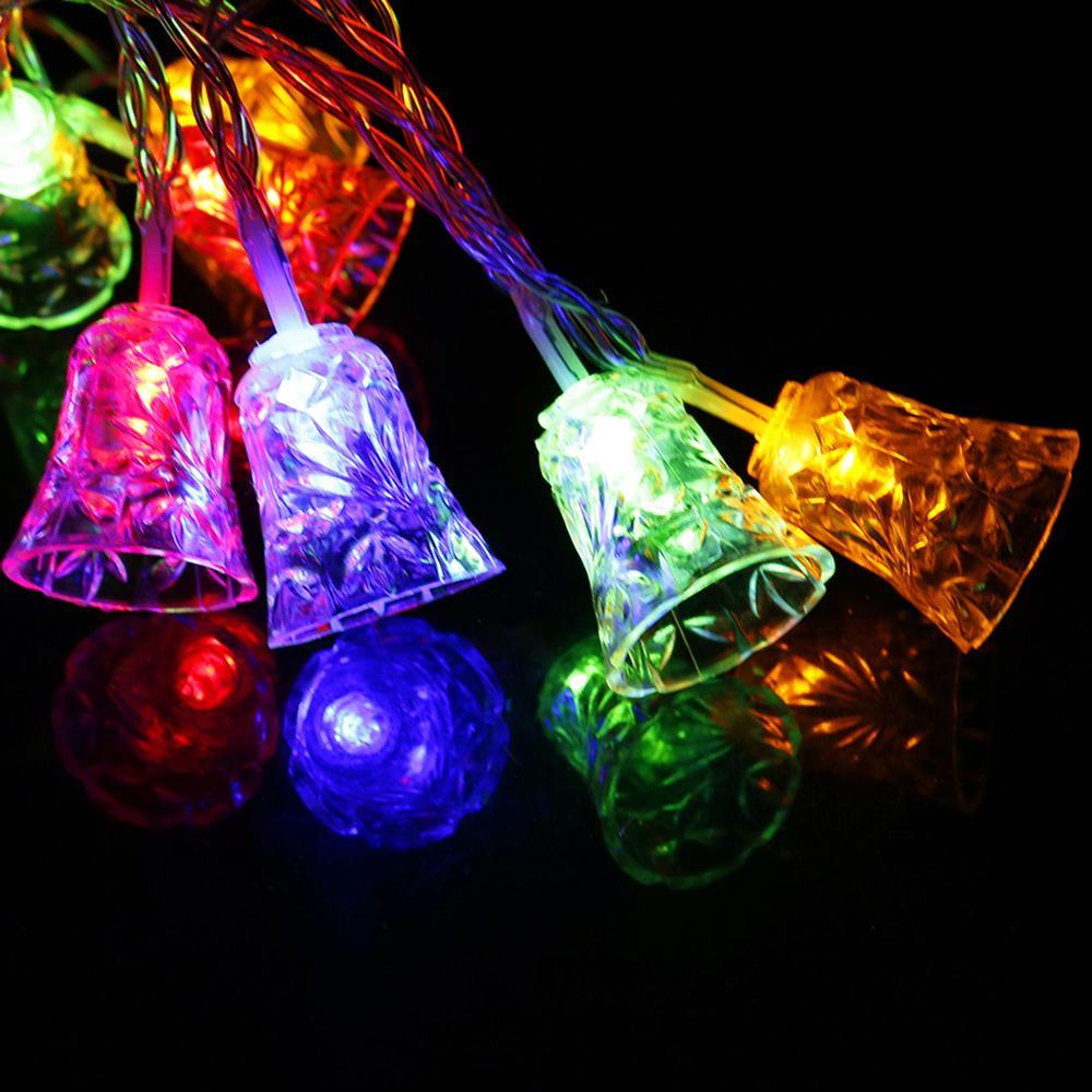 Twinkly Lights Bell Weihnachtsbaum Dekorationen Licht String Straße Girlande LED Jingle Bells Patio Holiday Party Neujahr Neuheit