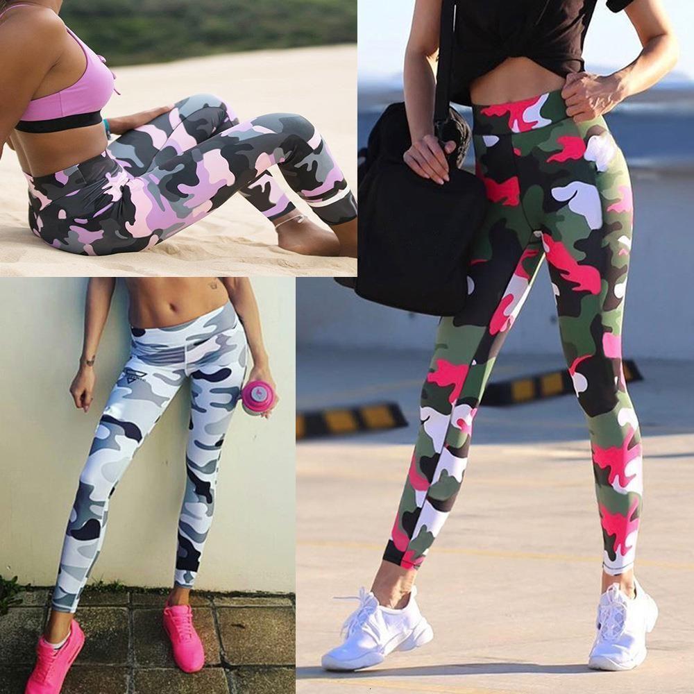 Summer Femmes Camo Pantalon Gym Leggings High Taille Hip Hip Share Camouflage Sport Femme Femme Fijouté Leggins Pantalon maigre