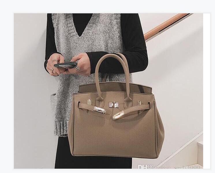 Totes 2021 Leder BERkin 25-30-35 Taurillon-Schloss mit hochwertigen Taschen, Drehen Sie den oberen Verschluss, doppelte Taschegriffe, kommen 25cm, 30cm Dust iconic Fash UFFTX