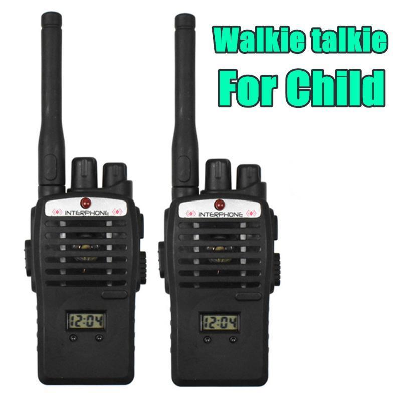 Portable mini portable Interphone talkie-walkie pour les enfants à deux voies Radio Walkie Handy Transceiver Transceiver interphonie