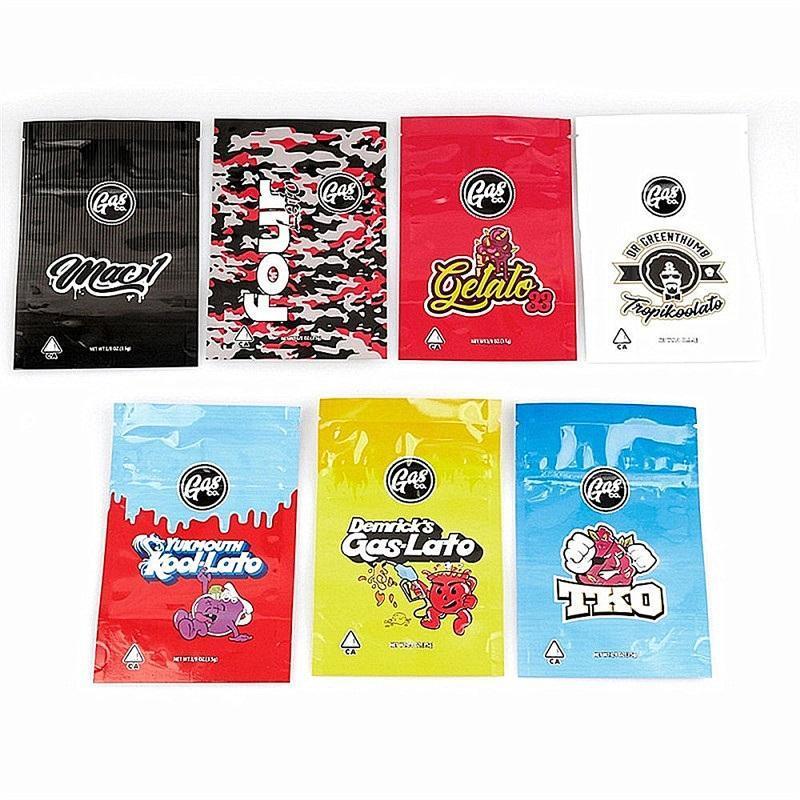 gelato33 ve Gaslato Çocuk Dayanıklı Açılıp kapanabilir Çanta kuru ot çiçek ambalajları fourlato Yeni Gasco UI KOOI-LATO mylar çanta kokusu geçirmez