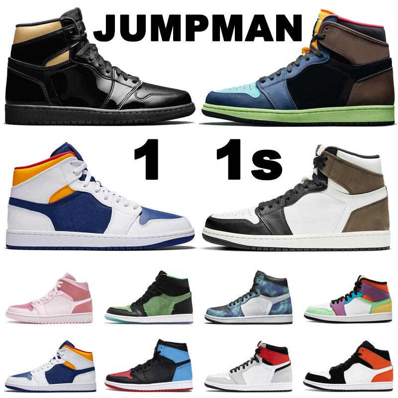 Jumpman 1 1s 농구화 Black Gold Mocha High OG Bio Hack Iridescent Reflective White mens womens trainers outdoor sports sneakers