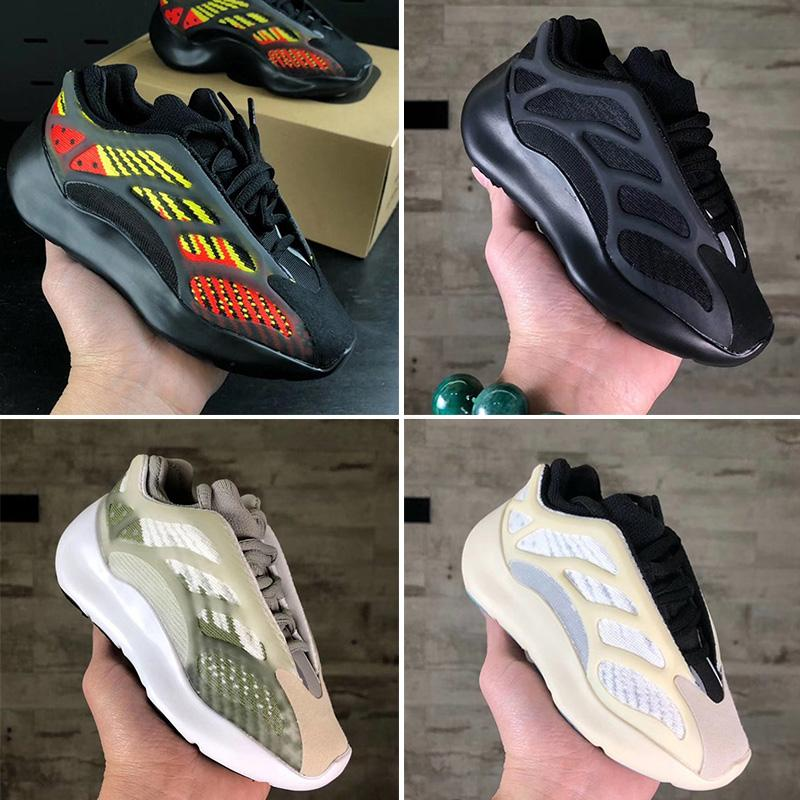 Yeezy 700 V2 Kid Running shoes Kanye West Niñas zapatillas de deporte de los niños pequeños muchachos Negro Kanye West V3 esqueleto Entrenadores de Baloncesto 28-35