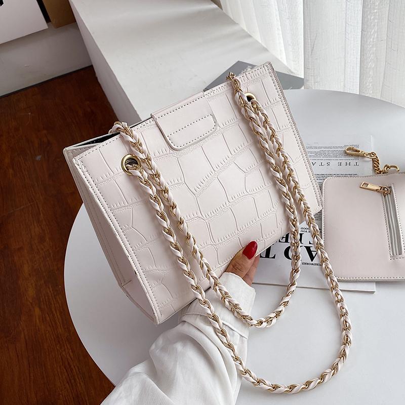 2 плеча цветной узор камень PU сумки сумки крест для женщин 2020 сплошные маленькие шт. / Комплект Crossbody женская сумка кожаный кузов ksiaw