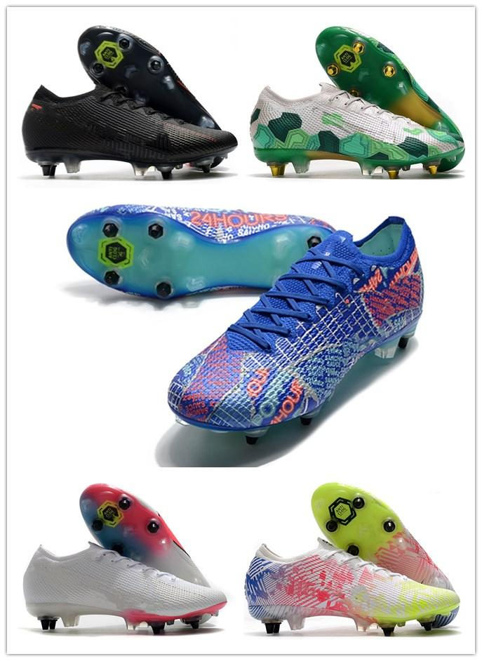 الزئبقي 13 النخبة SG-PRO AC الكبير الاطفال شباب جديد بالجملة رخيصة للرجال لكرة القدم أحذية كرة القدم المرابط مكافحة السدادة أحذية Plyknit 360 مقاوم للماء
