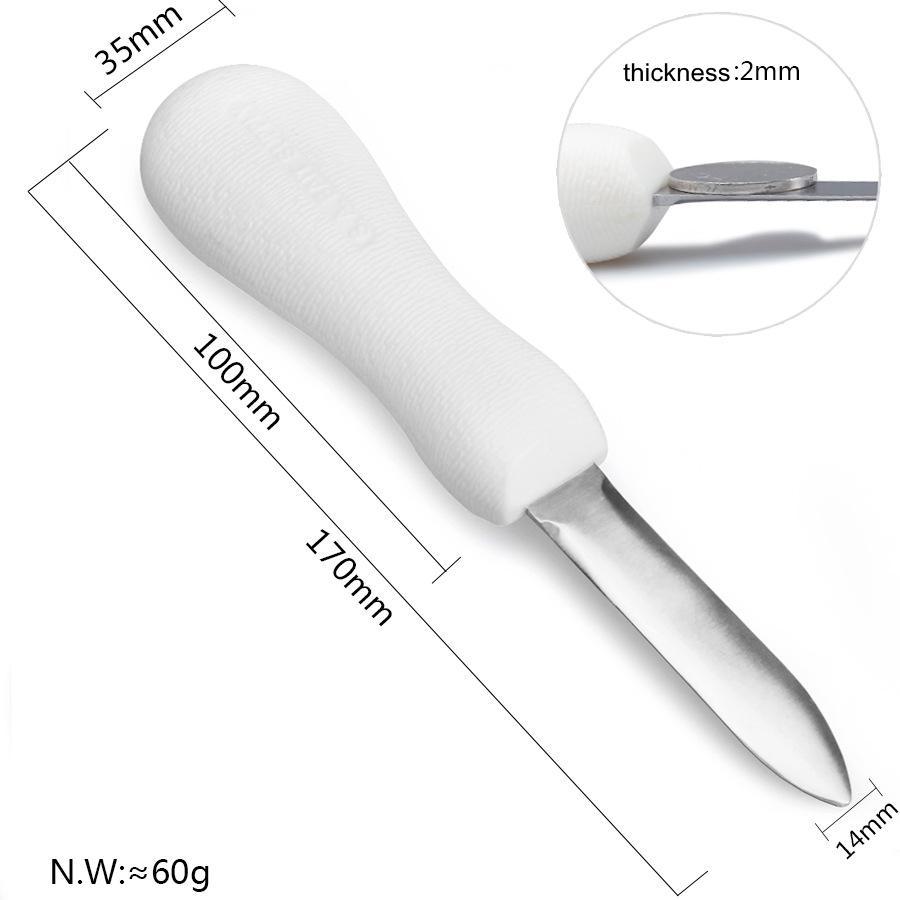 Oyster de acero inoxidable del cuchillo Multi Función antideslizante abierto Shell anti - deslizamiento mango engrosamiento de herramientas Inicio Cocina Artículos EEA2170