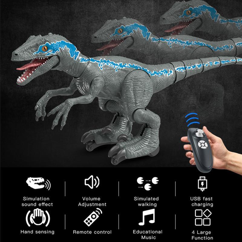 RC игрушка электрический динозавр интеллектуальный дистанционный контроль робот динозавров игрушки автомобили животных контролируются рождественские игрушки для мальчиков подарок 201207