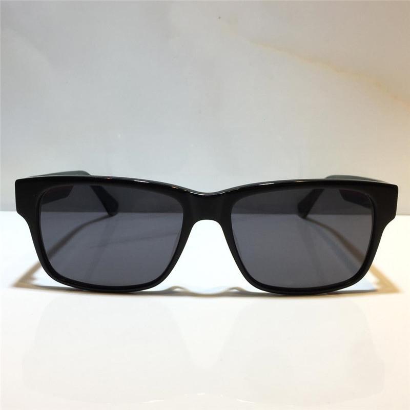 0340 Moda Gafas de sol Hombres y mujeres Placa de verano Placa de verano rectangular Marco completo superior Protección UV con cubierta protectora Brudl