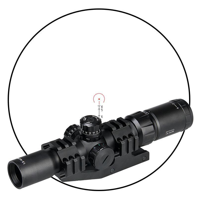 PPT 1.5-4x30 Scope del fucile rosso verde blu illuminato per la caccia all'aperto sparatoria all'aperto Viewfinder cl1-0246b