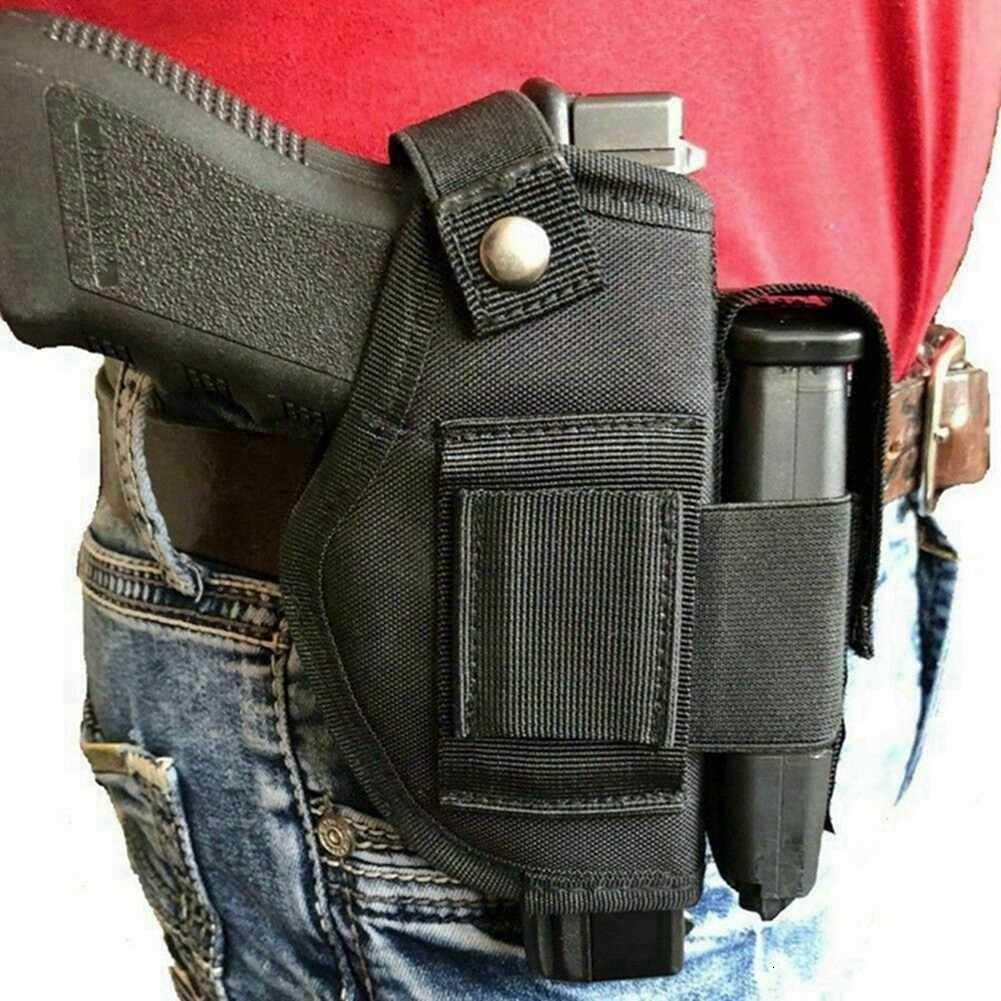 Tactical New Nylon Belt Clip Gun holster With Extra Magazine Pouch For Wather PPK & PPK/S