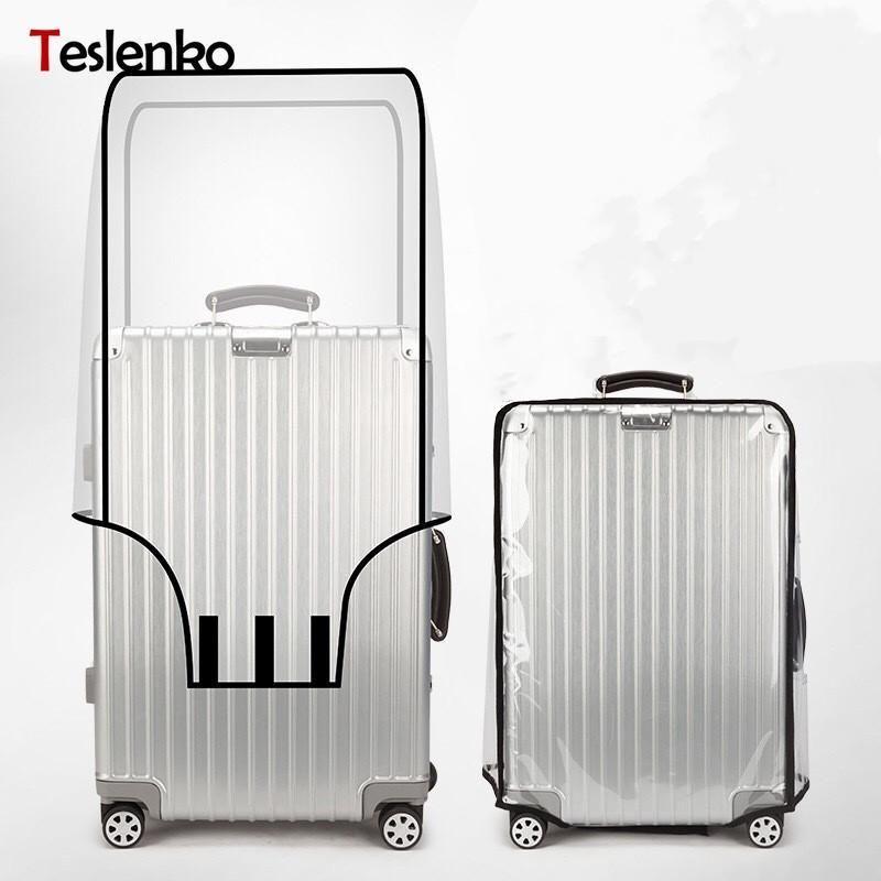 """Bewerben Sie sich auf """"18-30 '' PVC-Koffer-Schutzhülle Gepäckkoffer Reisezubehör Transparent Gepäck Wasserdichte Staubbeutelabdeckungen1"""