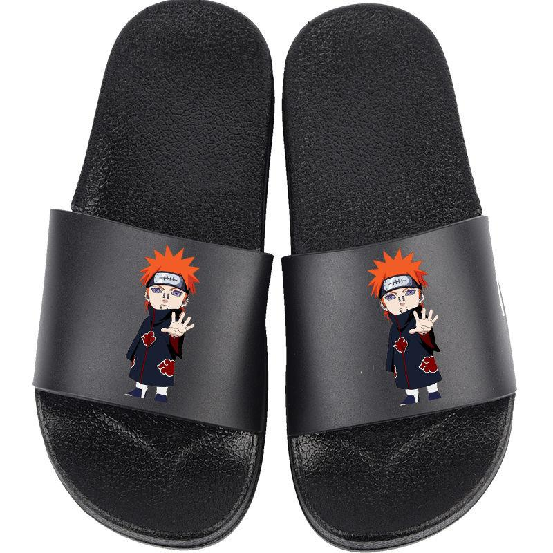 Naruto Slippers anime Slippers Men Women Kawaii Uchiha Sasuke Kakashi Cosplay spring summer boy Non-slip Large size home shoes