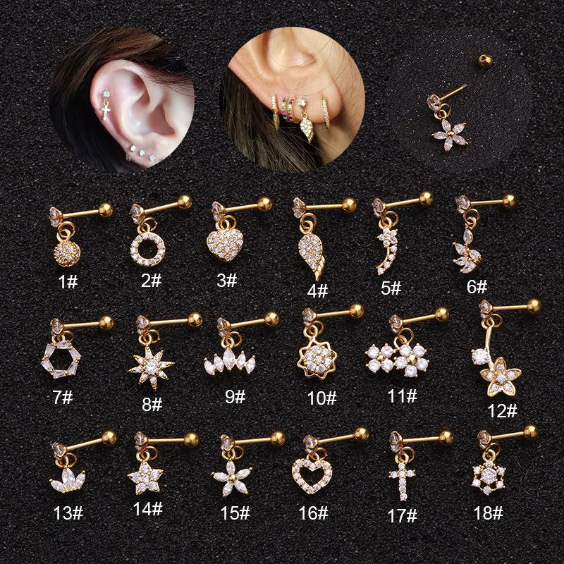 Korean Simple Personality Women Dangle Earrings for Women Fashion Jewelry 2020 Small Round Piercing Drop Earrings