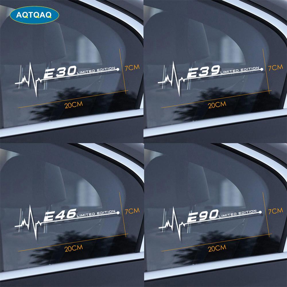 1Pcs for BMW E28 E30 E34 E36 E39 E46 E53 E60 E61 E62 E70 E87 E90 E91 E92 E93 Car Side Window Stickers Car Sticker