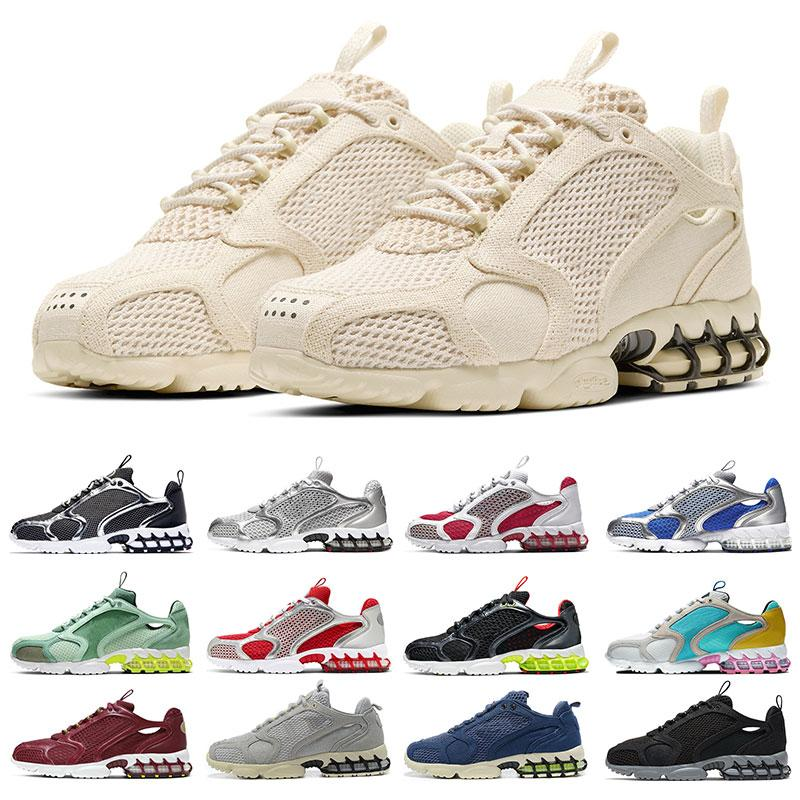 Nike air zoom spiridon cage 2 stussy FIBA ​​Game Royal GYM RED WNTR FRANZÖSISCH BLAU MICHIGAN grippe spiel NYLON herren sport turnschuhe trainer Leichtathletik größe 7-13