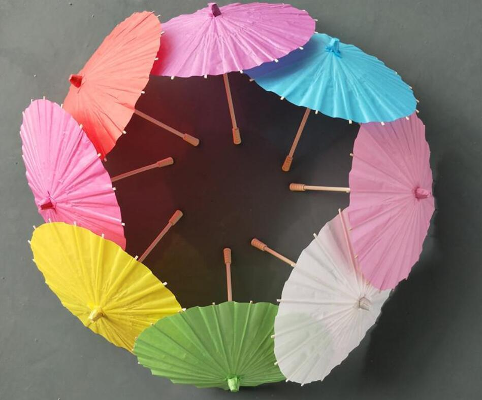 Bridal Wedding Parasols Colorful Paper Umbrellas Chinese Mini Craft Umbrella Diameter 40cm Wedding Umbrellas For Wholesale Free Ship