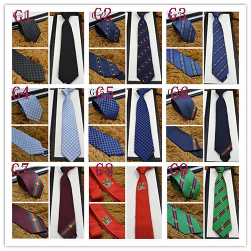 Más nuevos Mans Lazos de alta calidad 100% de seda Moda con caja de regalo 7 cm Classic Edition Men's Casual estrecho Lazs Fast Ship
