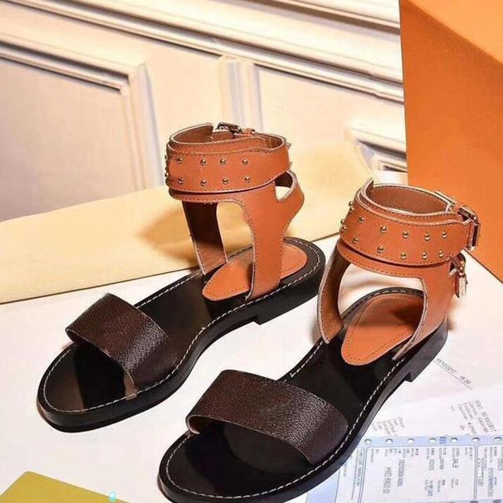Moda Sandali Donne Sandali Summer Flats Sexy Stivaletti Alti Stivali da uomo Sandali Gladiatore Donne Casual Flats Shoes Ladies Beach Sandali romani 35-42-45
