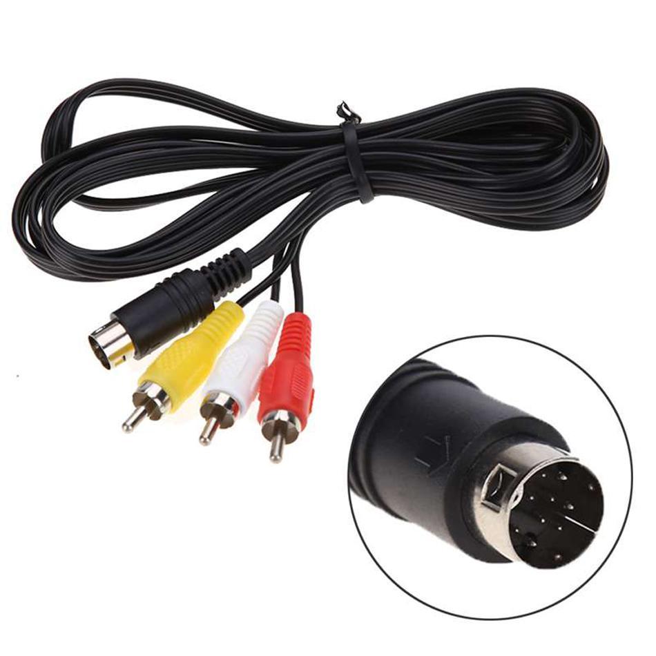 1,8 m 9Pin 3RCA Video Audio Cavo AV per Sega Genesis 2 3 Gioco A / V Adattatore Collegamento del cavo di legare per SEGA Genesis