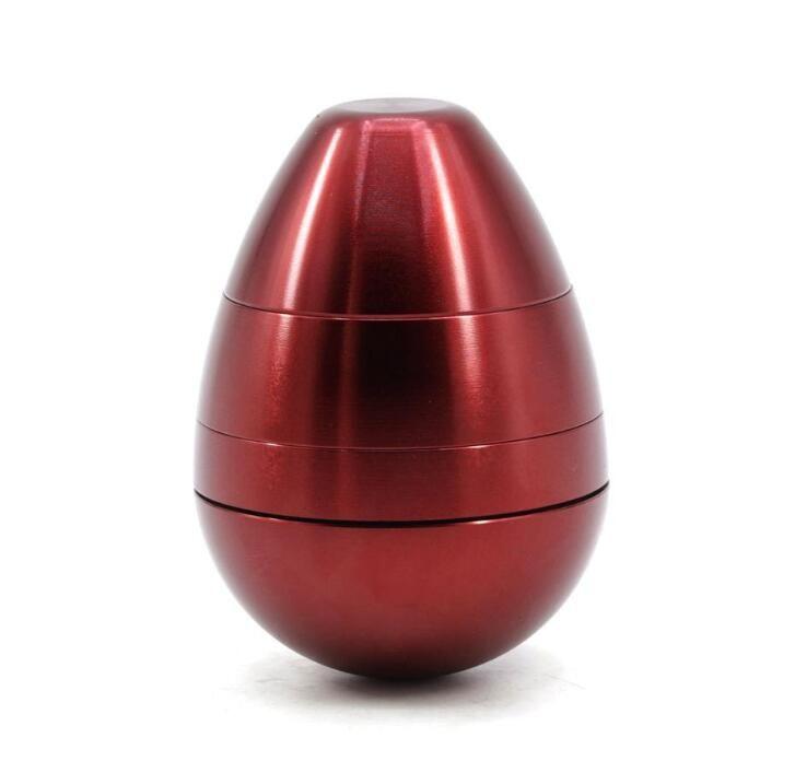 البيض شكل عشب طاحونة 4 قطعة 58 ملليمتر التدخين مجموعة سبائك الألومنيوم الزنك الماسك الكسارة التبغ المطاحن المعدنية EEB4319