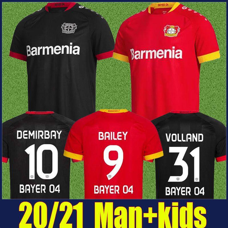 Acquista 2020 2021 Leverkusen Soccer Jersey Men Bambini Kit Bayer 04 Leverkusen Palacios Bailey Football Jersey Demirbay Volland Tah Camicie Da Calcio ...