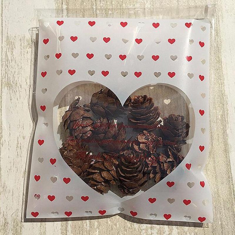 Spécial amour Cookie bonbons auto-adhésif d'emballage Sacs en plastique biscuit de petit gâteau de l'emballage au four 7 * 7cm Pouches 100 PCS / Pack