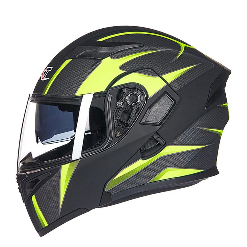 GXT, casco de motocicleta plegable de los hombres, módem de haz solar integrado, doble escudo, casco Doracing