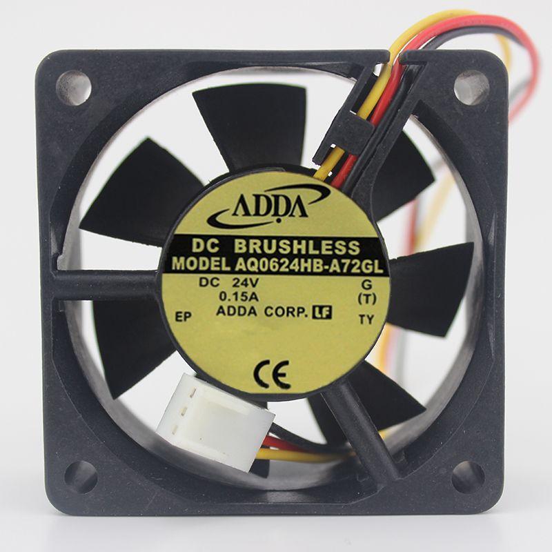 Free Shipping 6025 Three-Line 24V 0.15A 6CM Ball AQ0624HB-A72GL Full Waterproof Fan