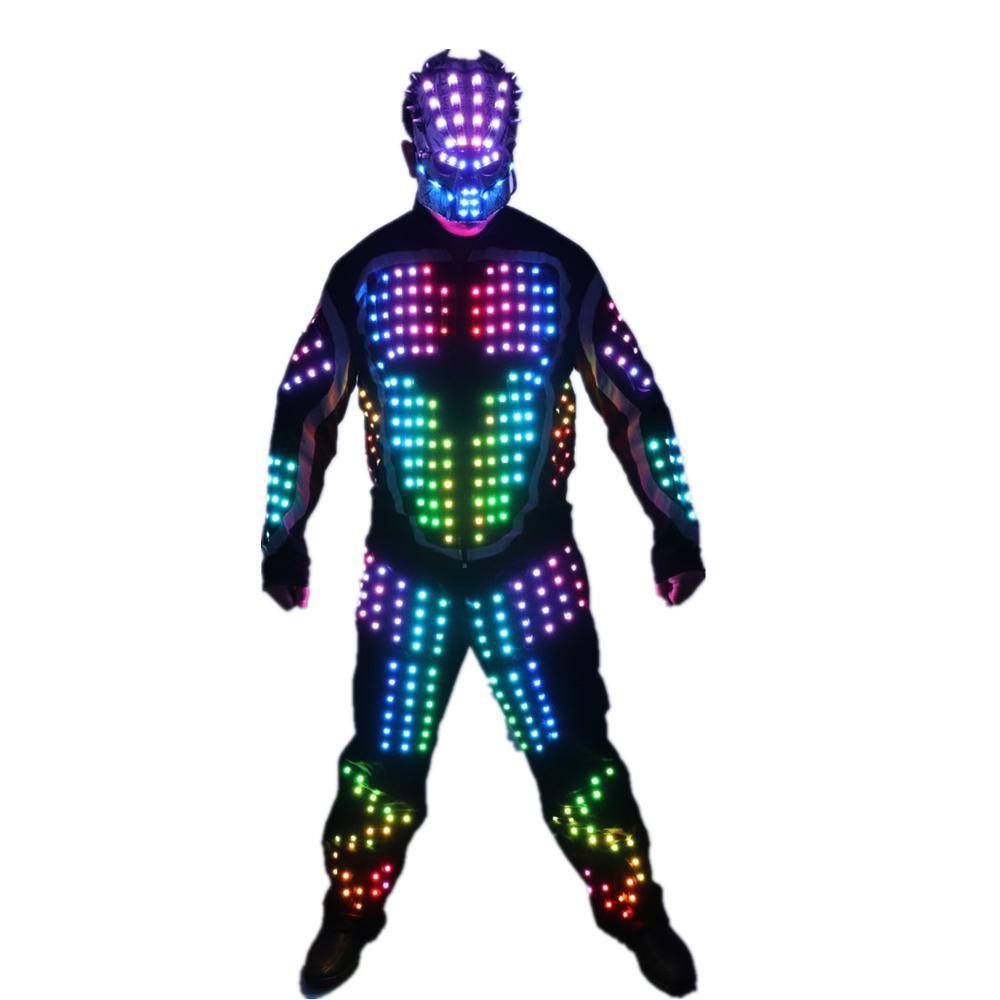 Цифровой светодиодный световой Брони Light Up Jacket Светящиеся костюмы Костюм Бар Ночной клуб партии Performance костюм Parade Float украшения