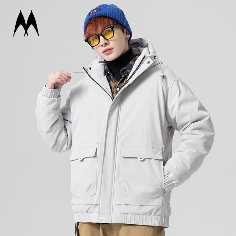 Multi Pocket Down Jacket Men 2020 New Winter Down Coats Mens Thick Warm Hooded Jacket Streetwear Japanese Style Outerwear Coat