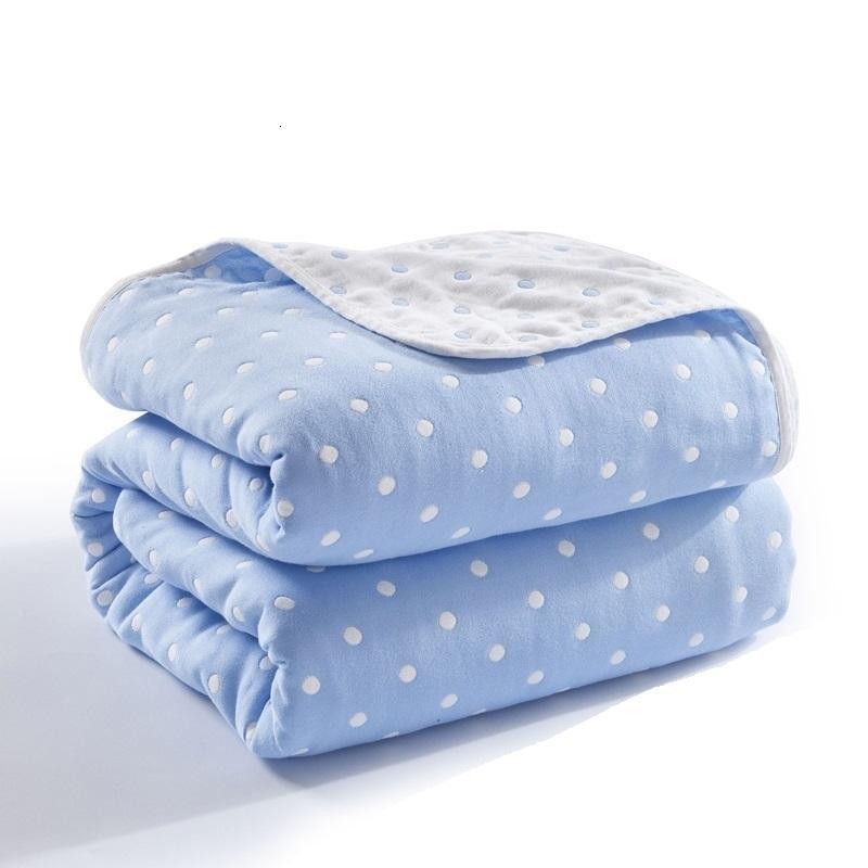 Büyük Boy Bebek Battaniye Çocuklar Yaz Yorgan Nefes Yumuşak Yatak Pamuk Banyo Gazlı Bez Wrap Erkek Kız Nap Battaniye 201109