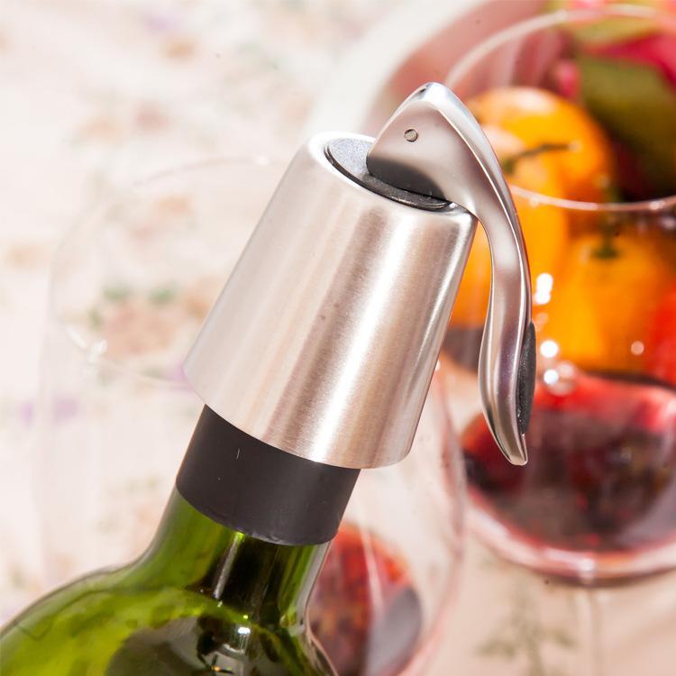 Bar tappi per vino sigillato in acciaio inox Bottiglia di vino in acciaio inox tappo di bottiglia fresca mantenuta salvaservatore chiusura champagne clids tappi tappi bar strumenti