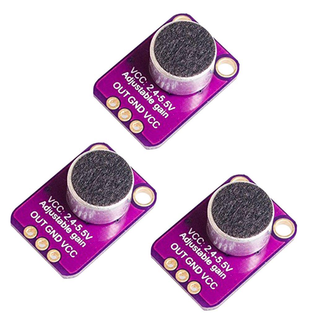 3 шт MAX4466 электретный микрофон усилитель Регулировка усиления для