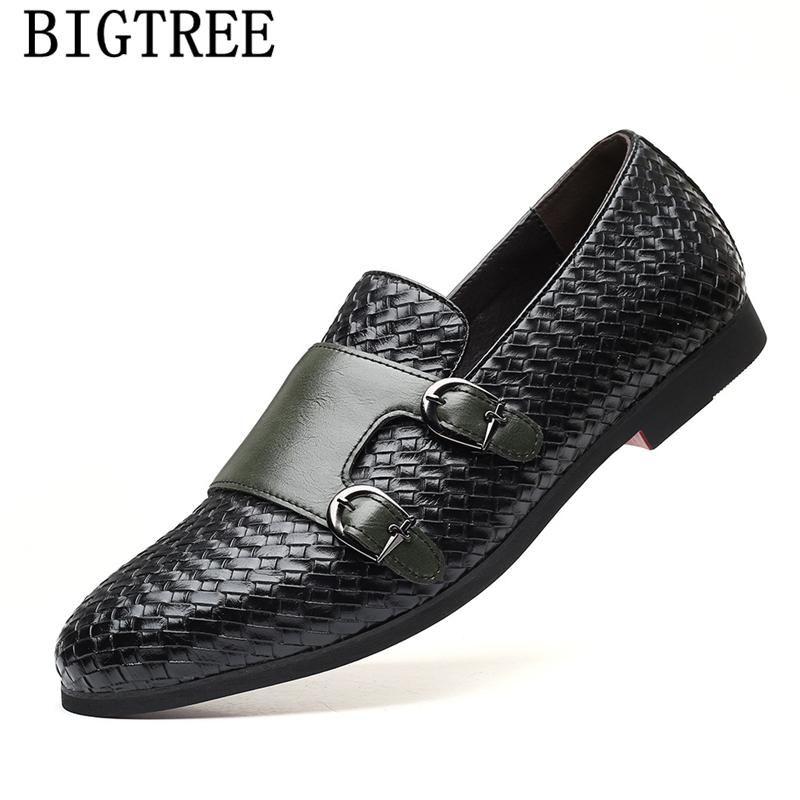 Double Monk Bracelet Mocassins Hommes Chaussures Hommes Luxe Coiffeur en cuir Robe Taille Plus italienne Zapatos Formales Hombre