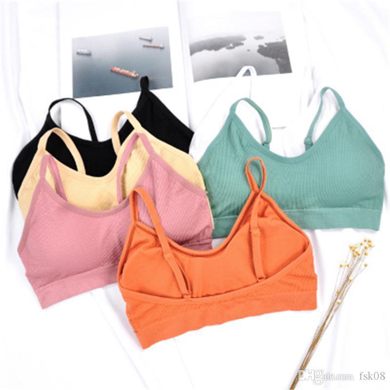 Gym Underwear Push Up Sports Wear For Women Yoga Bra Top Fitness Athletic Vest Padded Beach Lighter Haut Jogging Femme Bralette