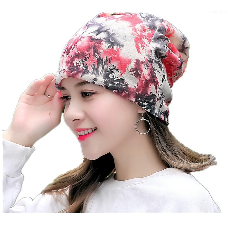 Frauen Blumenkrebs Chemo Hut Beanie Schal Turban Head Wrap Cap Baumwolle Beiläufige Anpassung Strickmütze Für Frauen Hohe Qualität1
