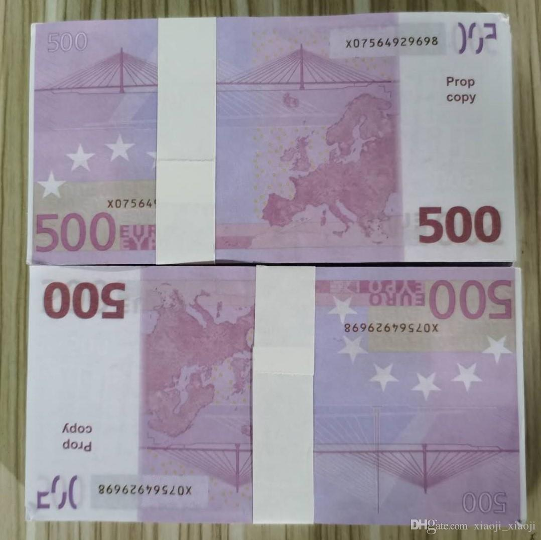 Party Toys Money Faux Billet regalos Papel moneda película Euro PROP Festivo Billet Juegos Juguetes Colección y dinero 07 SDVJQ