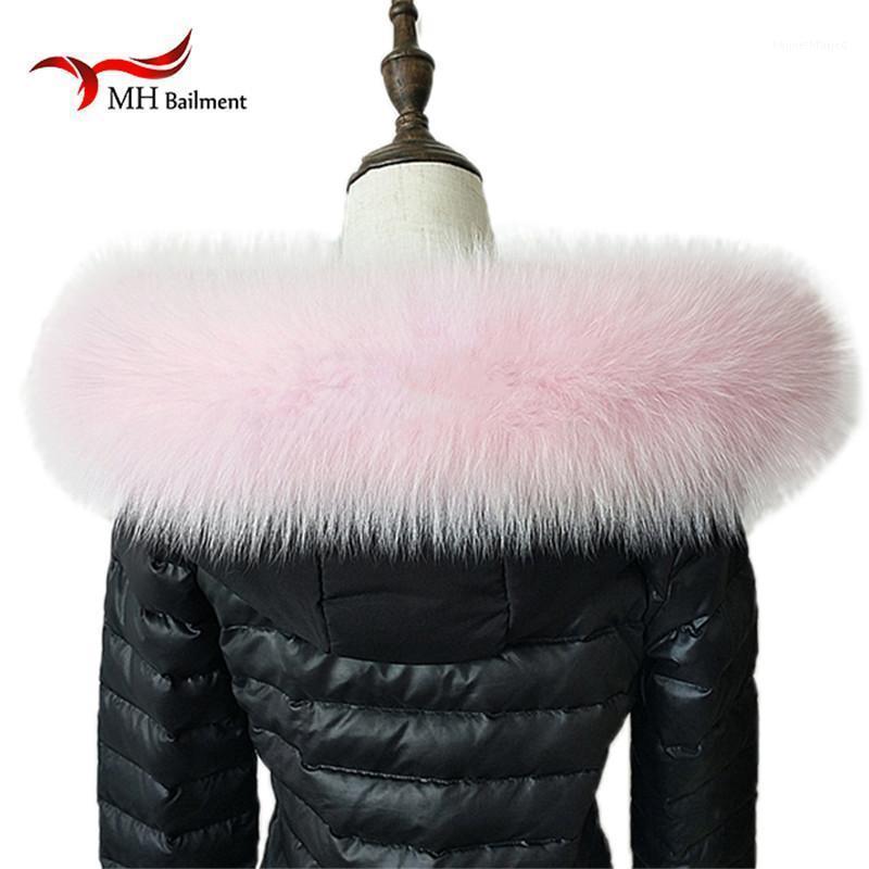 Шарфы 100% реальный меховой шарф воротник женские зимние пальто роскошные подлинные теплые шеи теплые шаль L311